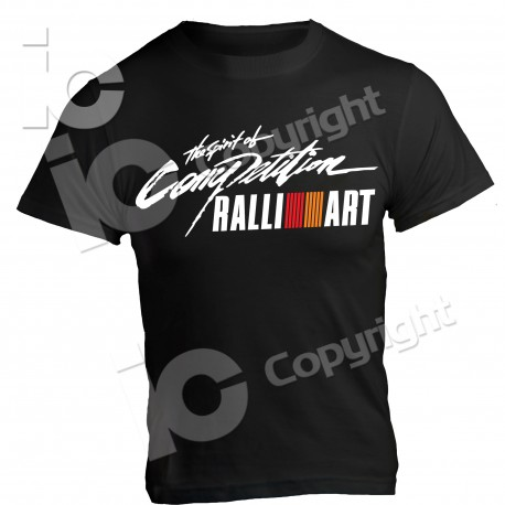 T-Shirt RALLIART Mitsubishi Racing Corse Sport Rally Car Spiriti of Competition