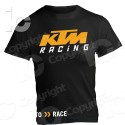 T Shirt KTM Racing Ready to Race EXC 450 Supermotard Cross Moto Maglietta