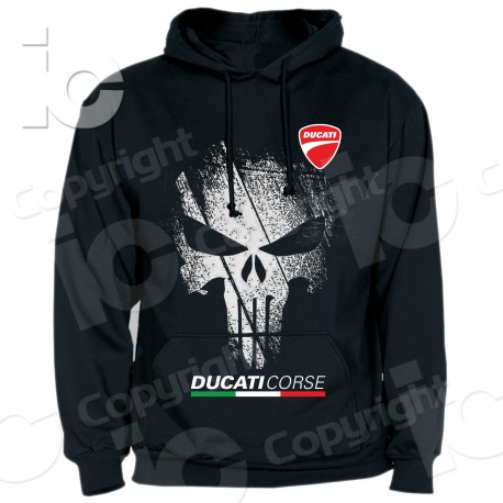 Felpa Ducati Punisher Desmo Racing Corse Performance Panigale Hoodie Sweatshirt