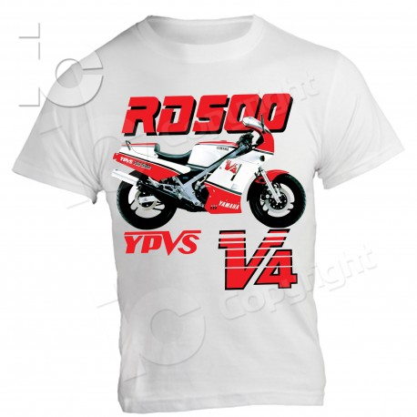 T-Shirt Yamaha RD 500 V4 Due Tempi two-stroke Racing Pista Diapason Legend YPVS