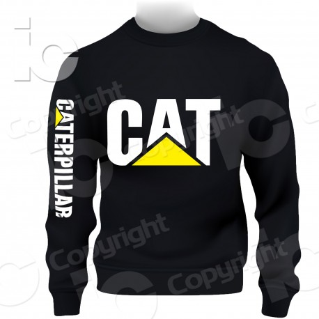 Felpa CAT caterpillar Cappuccio girocollo Hoodie Sweatshirt Backhoe Loaders